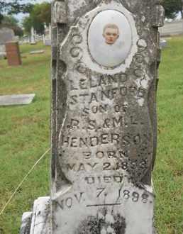 HENDERSON, LELAND STANFORD - Grayson County, Texas   LELAND STANFORD HENDERSON - Texas Gravestone Photos