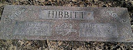HIBBITT, NELLIE MERLE - Grayson County, Texas | NELLIE MERLE HIBBITT - Texas Gravestone Photos