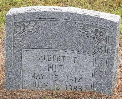 HITE, ALBERT THURMAN - Grayson County, Texas | ALBERT THURMAN HITE - Texas Gravestone Photos