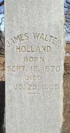 HOLLAND, JAMES WALTER - Grayson County, Texas | JAMES WALTER HOLLAND - Texas Gravestone Photos