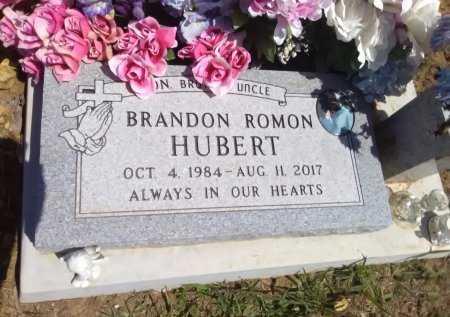 HUBERT, BRANDON ROMON - Grayson County, Texas | BRANDON ROMON HUBERT - Texas Gravestone Photos