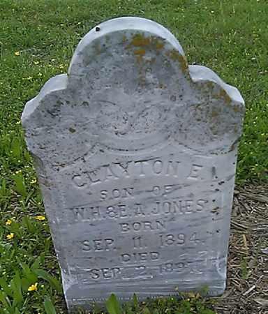 JONES, CLAYTON E. - Grayson County, Texas | CLAYTON E. JONES - Texas Gravestone Photos