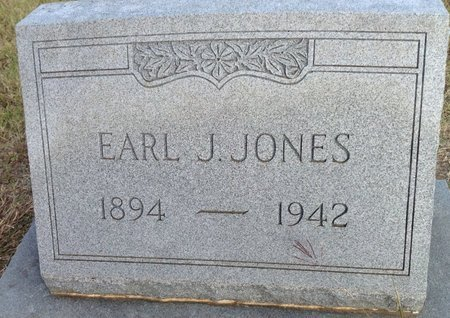 JONES, EARL J. - Grayson County, Texas | EARL J. JONES - Texas Gravestone Photos