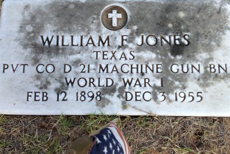 JONES (VETERAN WWI), WILLIAM FRANKLIN - Grayson County, Texas | WILLIAM FRANKLIN JONES (VETERAN WWI) - Texas Gravestone Photos
