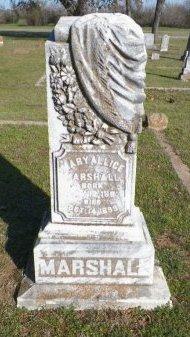 MARSHALL, MARY ALLICE - Grayson County, Texas | MARY ALLICE MARSHALL - Texas Gravestone Photos