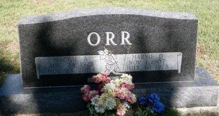 ORR, MAGGIE ANN - Grayson County, Texas   MAGGIE ANN ORR - Texas Gravestone Photos