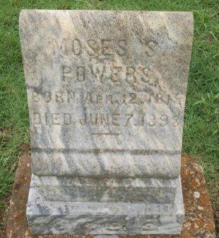POWERS, MOSES S. - Grayson County, Texas | MOSES S. POWERS - Texas Gravestone Photos