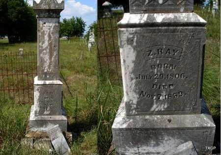 RAY, Z. - Grayson County, Texas   Z. RAY - Texas Gravestone Photos