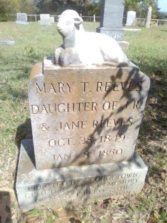 REEVES, MARY TALITHIA - Grayson County, Texas | MARY TALITHIA REEVES - Texas Gravestone Photos