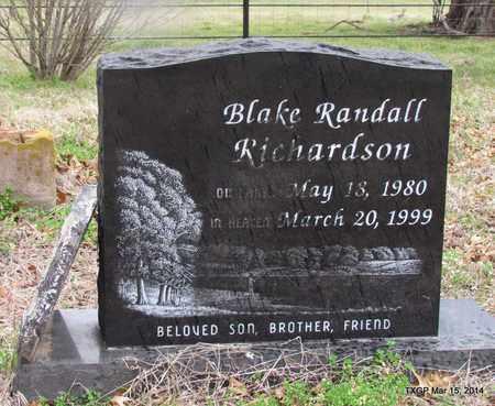 RICHARDSON, BALKE RANDALL - Grayson County, Texas | BALKE RANDALL RICHARDSON - Texas Gravestone Photos