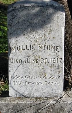 STONE, MOLLIE - Grayson County, Texas | MOLLIE STONE - Texas Gravestone Photos