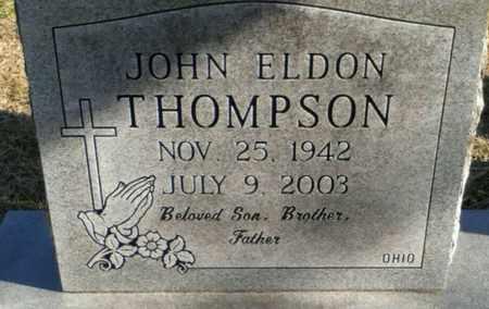 THOMPSON, JOHN ELDON - Grayson County, Texas | JOHN ELDON THOMPSON - Texas Gravestone Photos