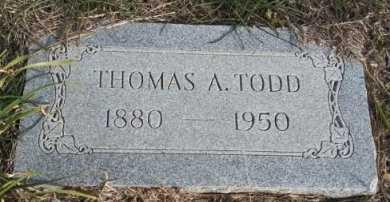 TODD, THOMAS ARTHUR - Grayson County, Texas | THOMAS ARTHUR TODD - Texas Gravestone Photos