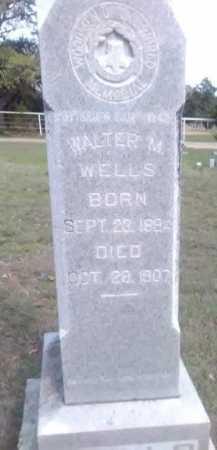WELLS, WALTER M. - Grayson County, Texas | WALTER M. WELLS - Texas Gravestone Photos