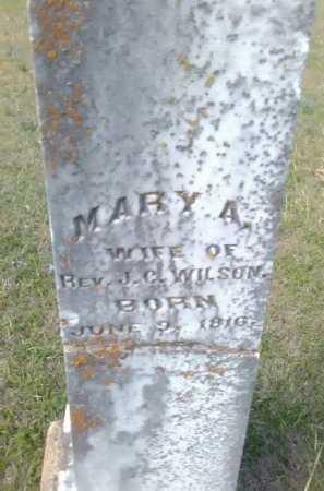 WILSON, MARY A. - Grayson County, Texas | MARY A. WILSON - Texas Gravestone Photos