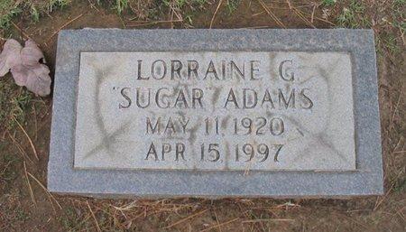 "ADAMS, LORRAINE ""SUGAR"" - Gregg County, Texas | LORRAINE ""SUGAR"" ADAMS - Texas Gravestone Photos"