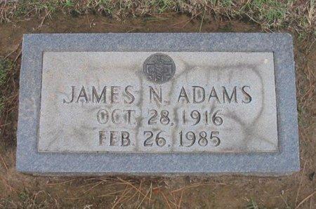 ADAMS (VETERAN WWII), JAMES N - Gregg County, Texas | JAMES N ADAMS (VETERAN WWII) - Texas Gravestone Photos