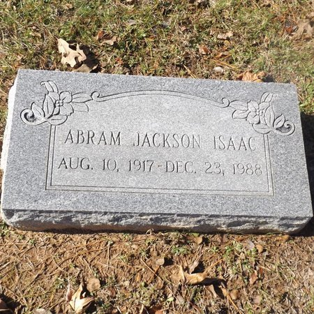 ISAAC, ABRAM JACKSON - Gregg County, Texas   ABRAM JACKSON ISAAC - Texas Gravestone Photos
