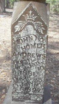 ANDREWS, JOHN HOMER - Grimes County, Texas   JOHN HOMER ANDREWS - Texas Gravestone Photos