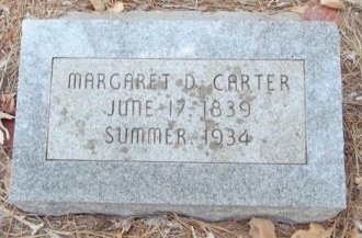 CARTER, MARGARET D. - Grimes County, Texas   MARGARET D. CARTER - Texas Gravestone Photos