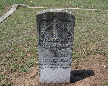 CARSON (VETERAN SAW), WILLIAM E - Guadalupe County, Texas | WILLIAM E CARSON (VETERAN SAW) - Texas Gravestone Photos
