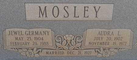 GERMANY MOSLEY, FRANCIS JEWEL - Hale County, Texas   FRANCIS JEWEL GERMANY MOSLEY - Texas Gravestone Photos