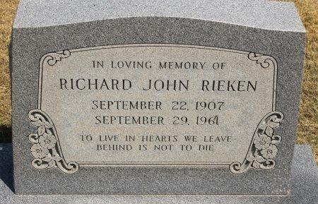 RIEKEN, RICHARD JOHN - Hale County, Texas | RICHARD JOHN RIEKEN - Texas Gravestone Photos