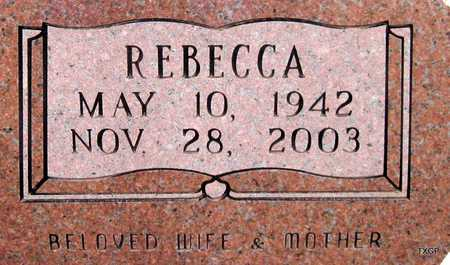 HOLCOMB ROGERS, REBECCA - Hale County, Texas | REBECCA HOLCOMB ROGERS - Texas Gravestone Photos