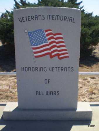 *VETERANS MEMORIAL SIGN,  - Hale County, Texas |  *VETERANS MEMORIAL SIGN - Texas Gravestone Photos