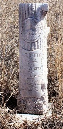 DITTO, WILLIAM THEODORE - Hall County, Texas   WILLIAM THEODORE DITTO - Texas Gravestone Photos