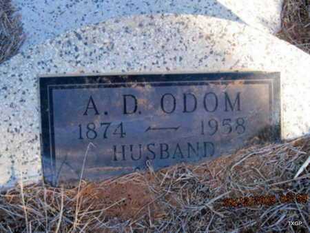 ODOM, AUDONBON DUDLEY - Hall County, Texas | AUDONBON DUDLEY ODOM - Texas Gravestone Photos