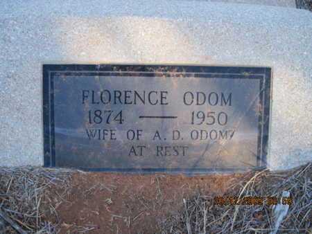 DILLARD ODOM, FLORENCE - Hall County, Texas | FLORENCE DILLARD ODOM - Texas Gravestone Photos