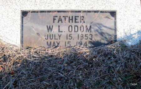 ODOM, W L - Hall County, Texas | W L ODOM - Texas Gravestone Photos