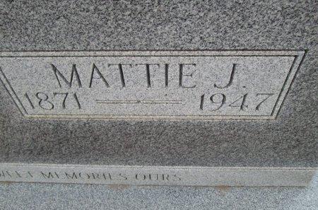 BROWN, MATTIE J. (CLOSEUP) - Hamilton County, Texas   MATTIE J. (CLOSEUP) BROWN - Texas Gravestone Photos