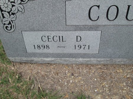 COUCH, CECIL DENNIS (CLOSEUP) - Hamilton County, Texas | CECIL DENNIS (CLOSEUP) COUCH - Texas Gravestone Photos