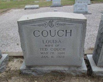 COUCH, LOUISA - Hamilton County, Texas | LOUISA COUCH - Texas Gravestone Photos