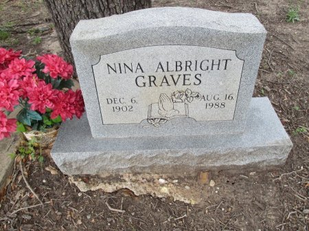 ALBRIGHT GRAVES, NINA - Hamilton County, Texas | NINA ALBRIGHT GRAVES - Texas Gravestone Photos