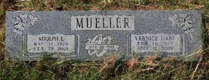 MUELLER, VERNICE - Hamilton County, Texas | VERNICE MUELLER - Texas Gravestone Photos