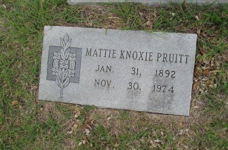 PRUITT, MATTIE KNOXIE - Hamilton County, Texas | MATTIE KNOXIE PRUITT - Texas Gravestone Photos