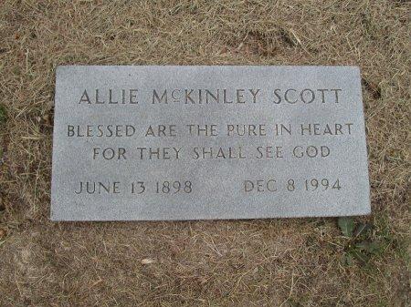 MCKINLEY SCOTT, ALLIE - Hamilton County, Texas | ALLIE MCKINLEY SCOTT - Texas Gravestone Photos