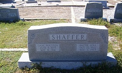 HILLER SHAFFER, HATTIE LENA - Hamilton County, Texas | HATTIE LENA HILLER SHAFFER - Texas Gravestone Photos