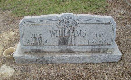 WILLIAMS, ALICE - Hamilton County, Texas   ALICE WILLIAMS - Texas Gravestone Photos