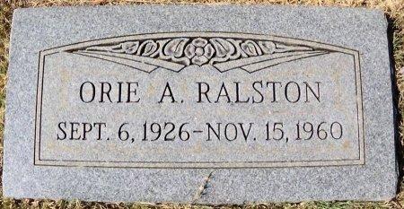 RALSTON, ORIE A - Hansford County, Texas | ORIE A RALSTON - Texas Gravestone Photos