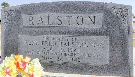 RALSTON (VETERAN WWII), JESSE FRED - Hansford County, Texas | JESSE FRED RALSTON (VETERAN WWII) - Texas Gravestone Photos