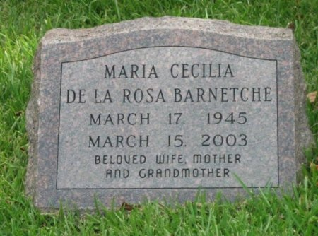 BARNETCHE, MARIA CECILIA - Harris County, Texas   MARIA CECILIA BARNETCHE - Texas Gravestone Photos