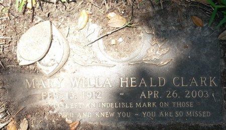 HEALD CLARK, MARY WILLA - Harris County, Texas | MARY WILLA HEALD CLARK - Texas Gravestone Photos