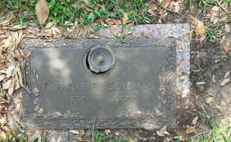COLEMAN, ROSALIE A - Harris County, Texas   ROSALIE A COLEMAN - Texas Gravestone Photos