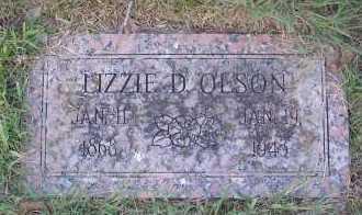 OLSON, LIZZIE D - Harris County, Texas | LIZZIE D OLSON - Texas Gravestone Photos