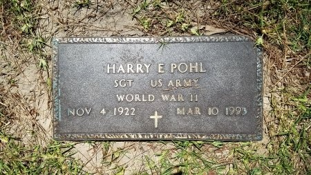 POHL (VETERAN WWII), HARRY E. - Harris County, Texas | HARRY E. POHL (VETERAN WWII) - Texas Gravestone Photos