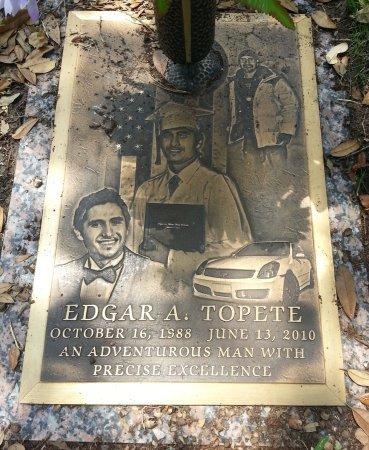 TOPETE, EDGAR ALFREDO - Harris County, Texas | EDGAR ALFREDO TOPETE - Texas Gravestone Photos